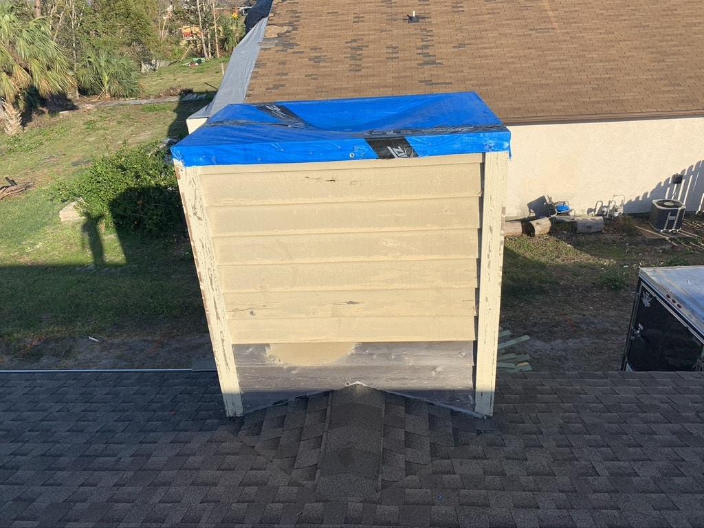 Sootmaster Pensacola, chimney cap installation