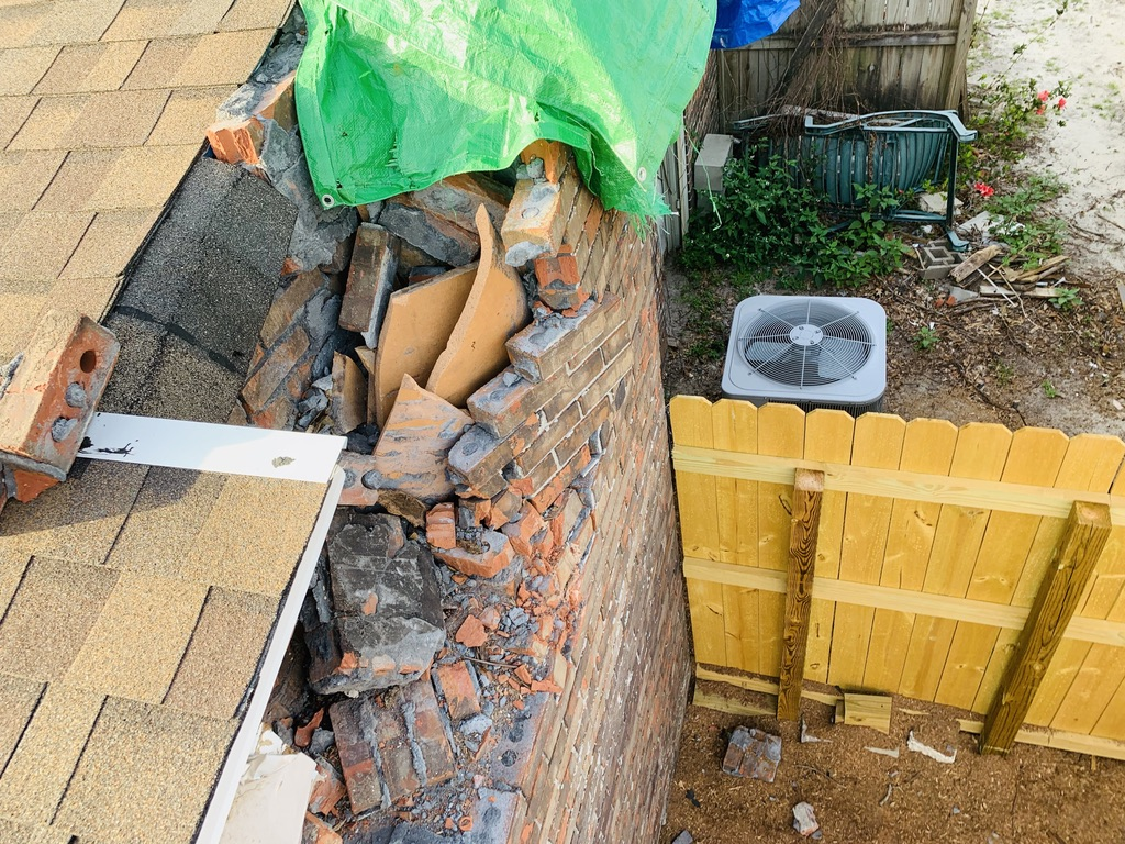 Pensacola Sootmaster, chimney damage repair