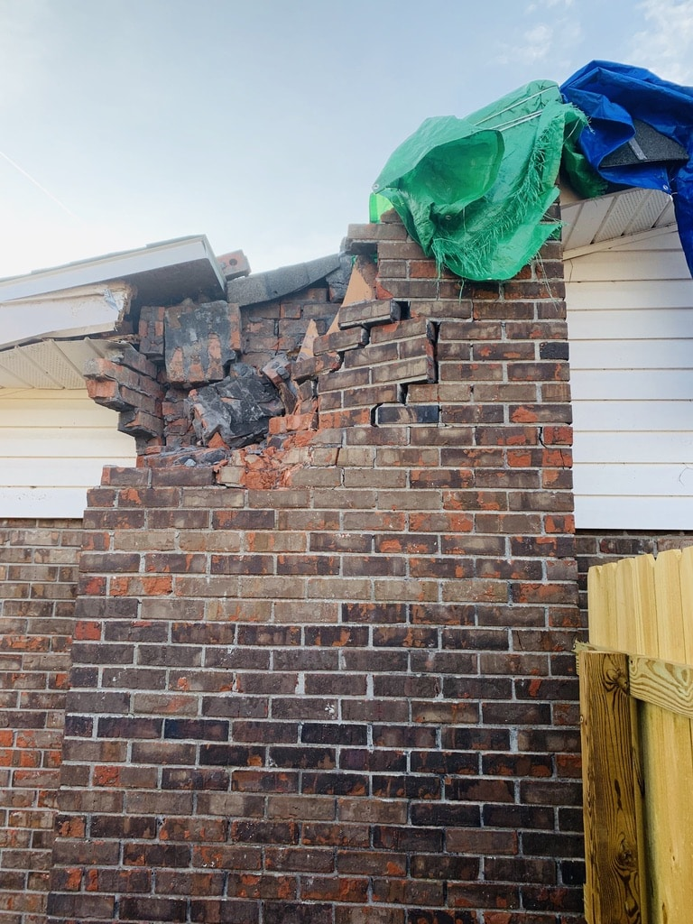 Tallahassee weather damaged chimney repair