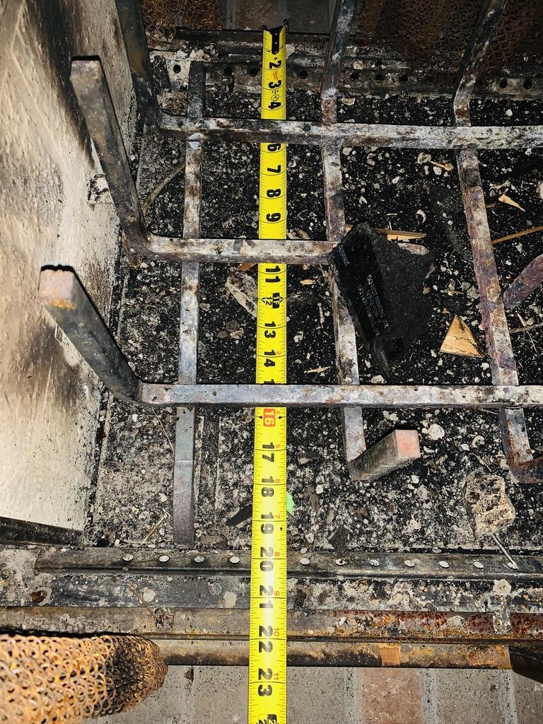 Measuring Firebox Depth by Chimney SweepAugusta