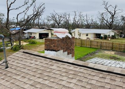 Chimney repair and cap installation after hurricane damages in the Southern United States