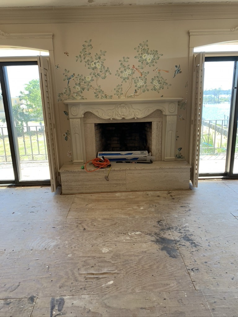 Fireplace remodel in Tallahassee