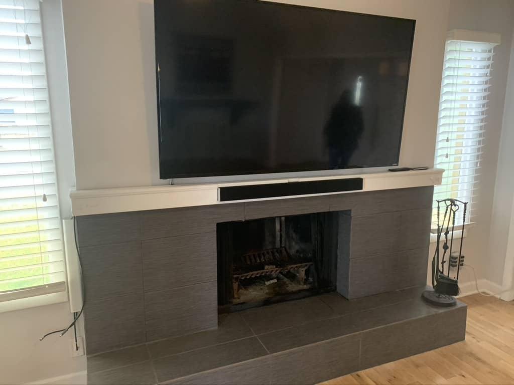 Beautiful fireplace installation