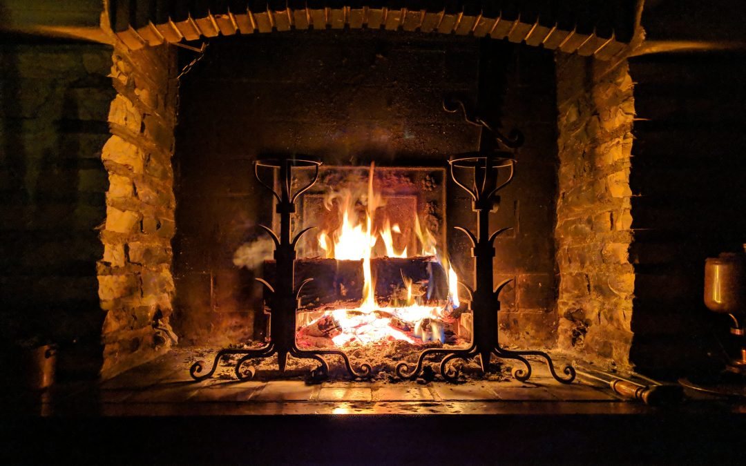Fire in Fire place