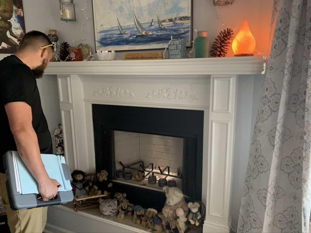 Fireplace Inspections on unsafe fireplace