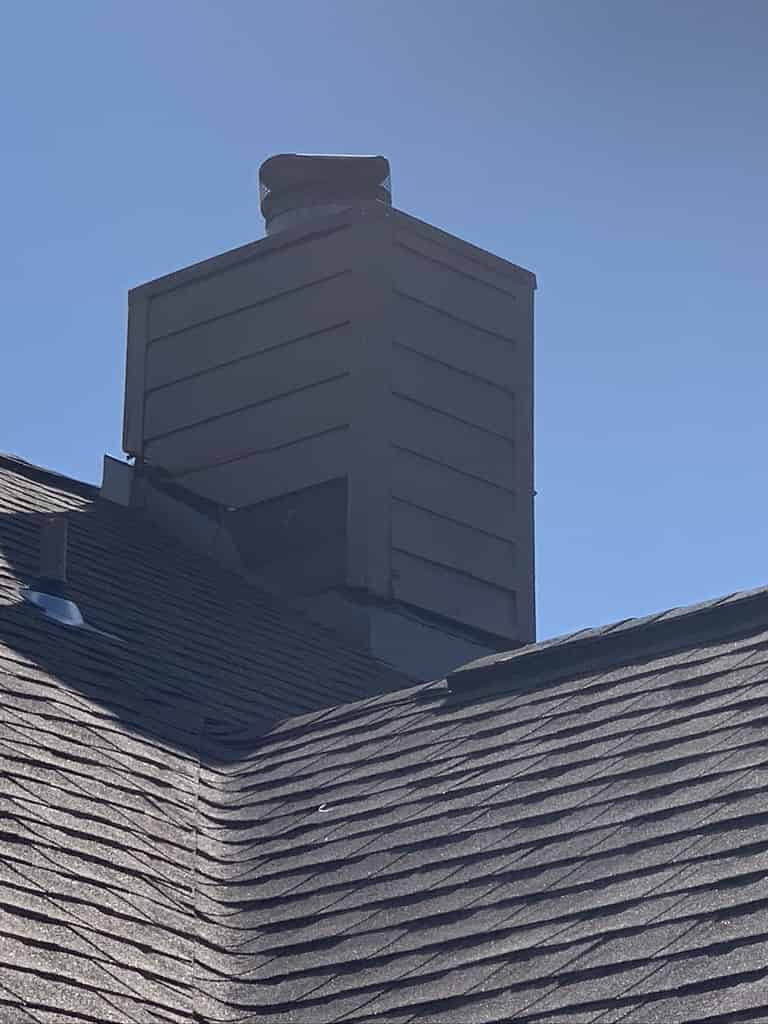 A Chimney Repair after hurricane sally caused leaks and water damage. Gulf Coast Sootmaster