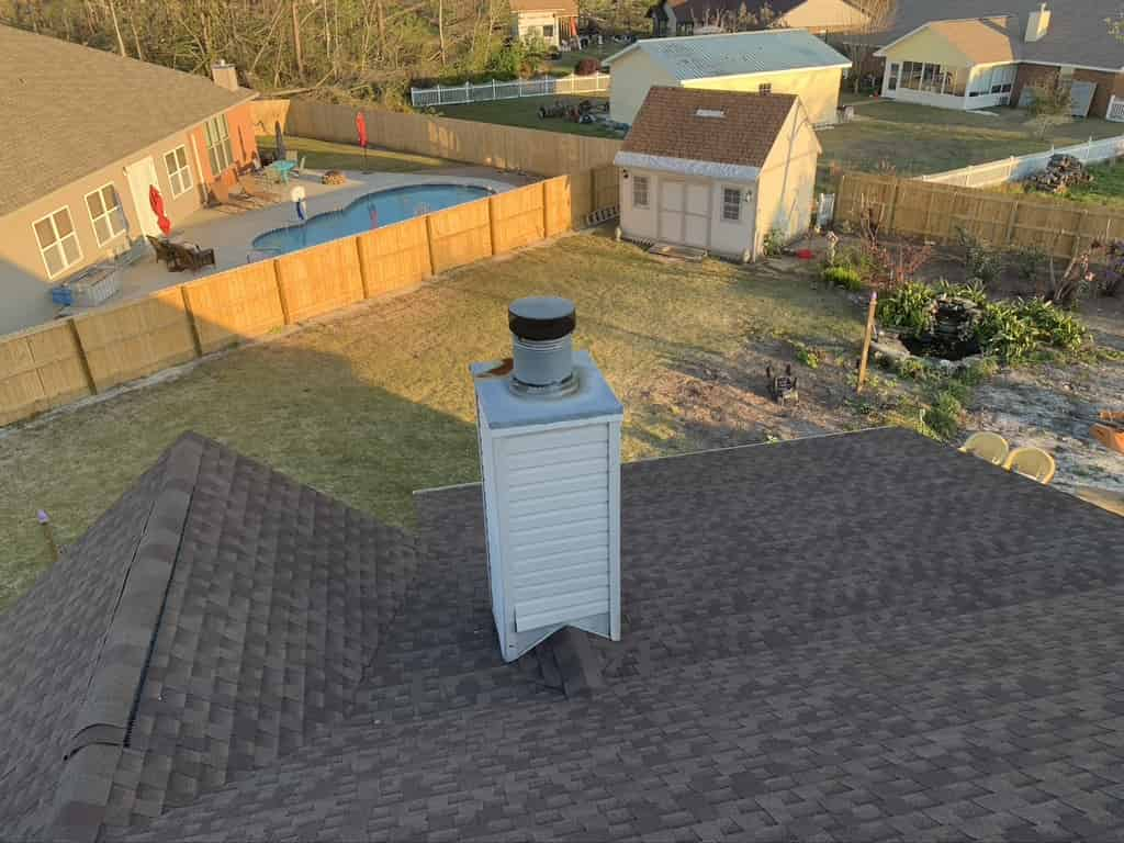 Top Down View of a Chimney in Georgia