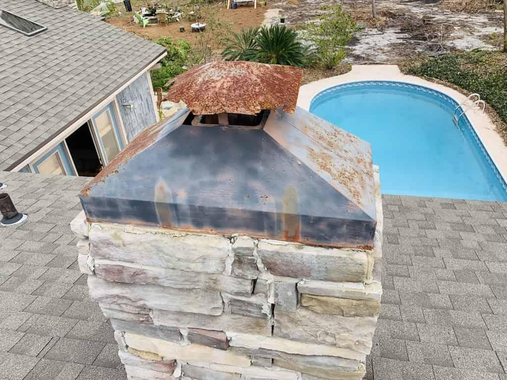Rust Chimney Cap