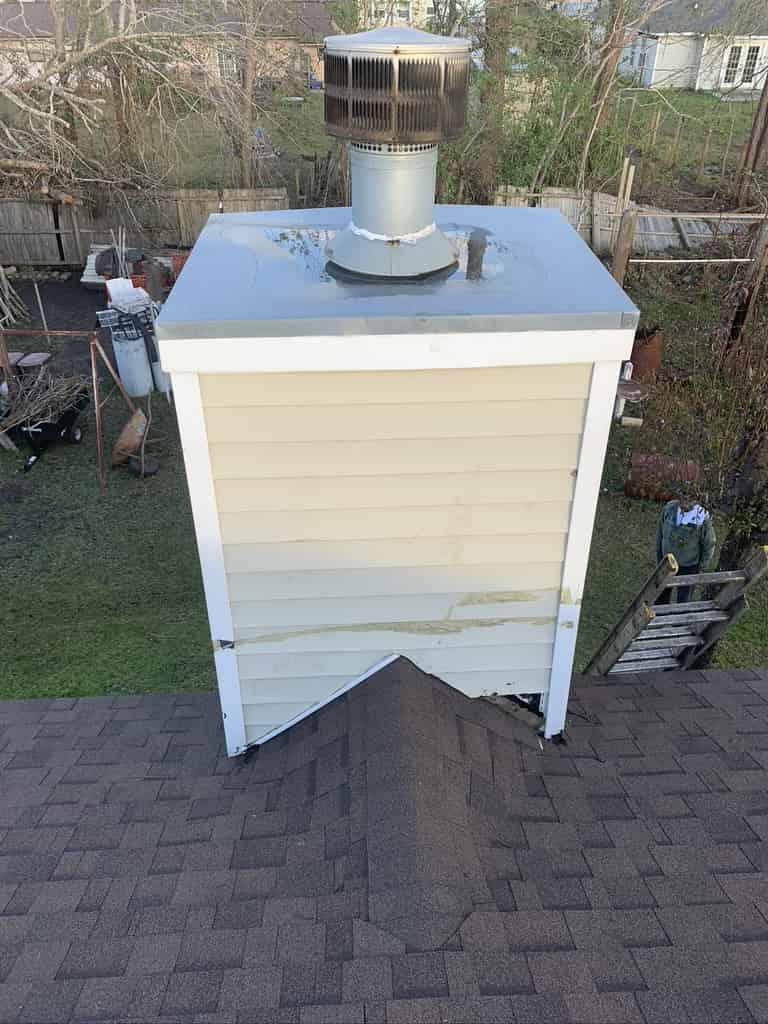 Prefab chimney siding repair