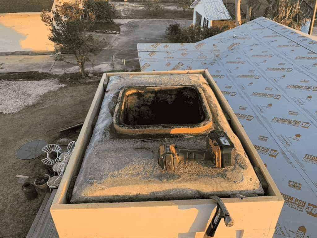 Sootmaster repairing damaged chimney in Moss Bluff