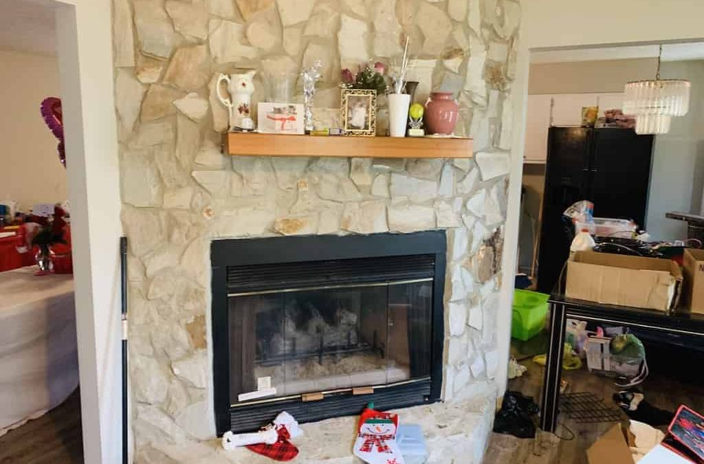 chimney fireplace stonework