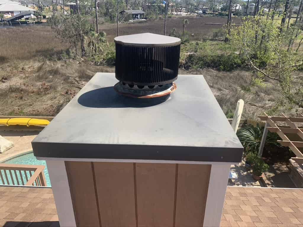 Chimney Cap, Full replacement and chimney repair, as well as chimney sweep in Pascagoula Florida