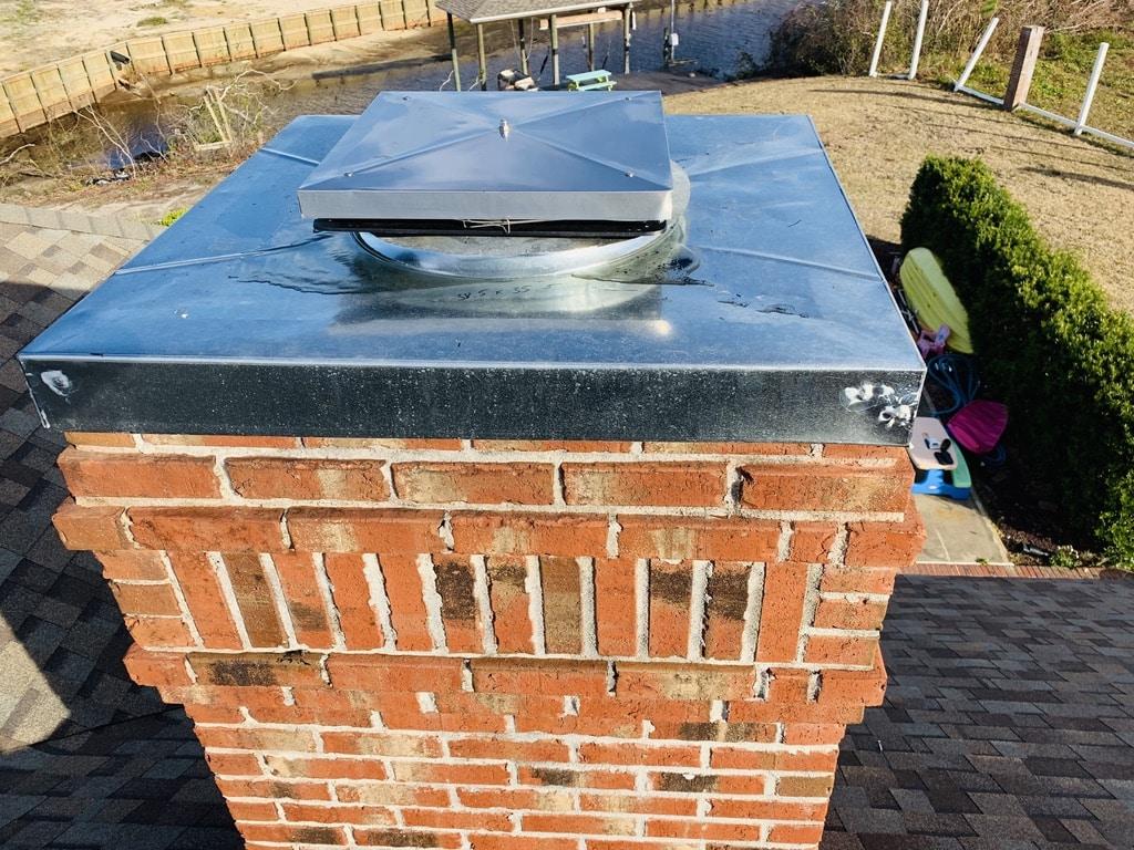 Chimney top lock top damper