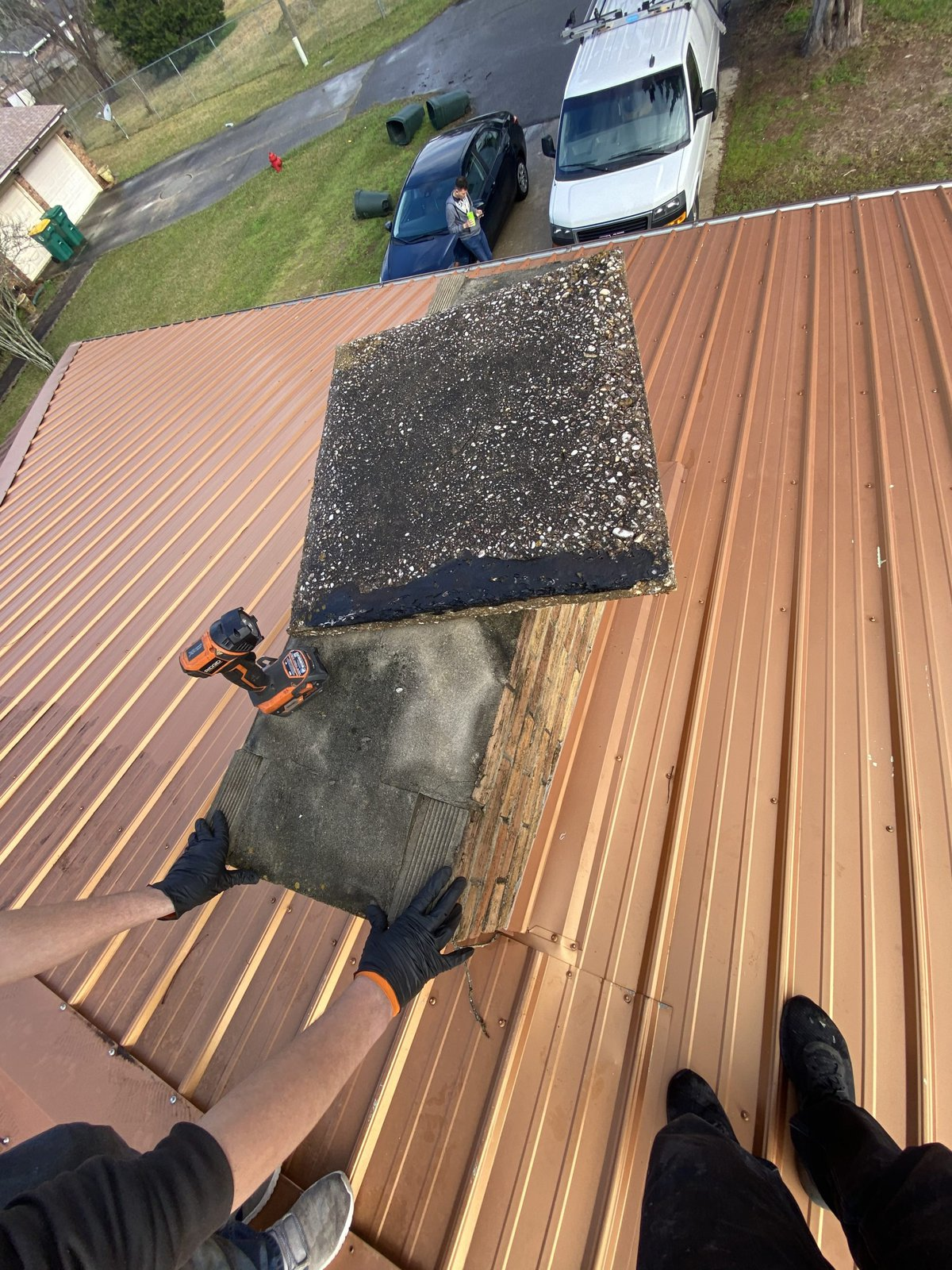 Worn out Old Cover Discovered By Chimney Sweeps Ashburn
