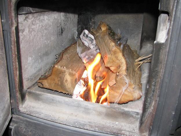improper wood burning in a wood burning stove