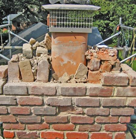 Brick Chimney and Flue