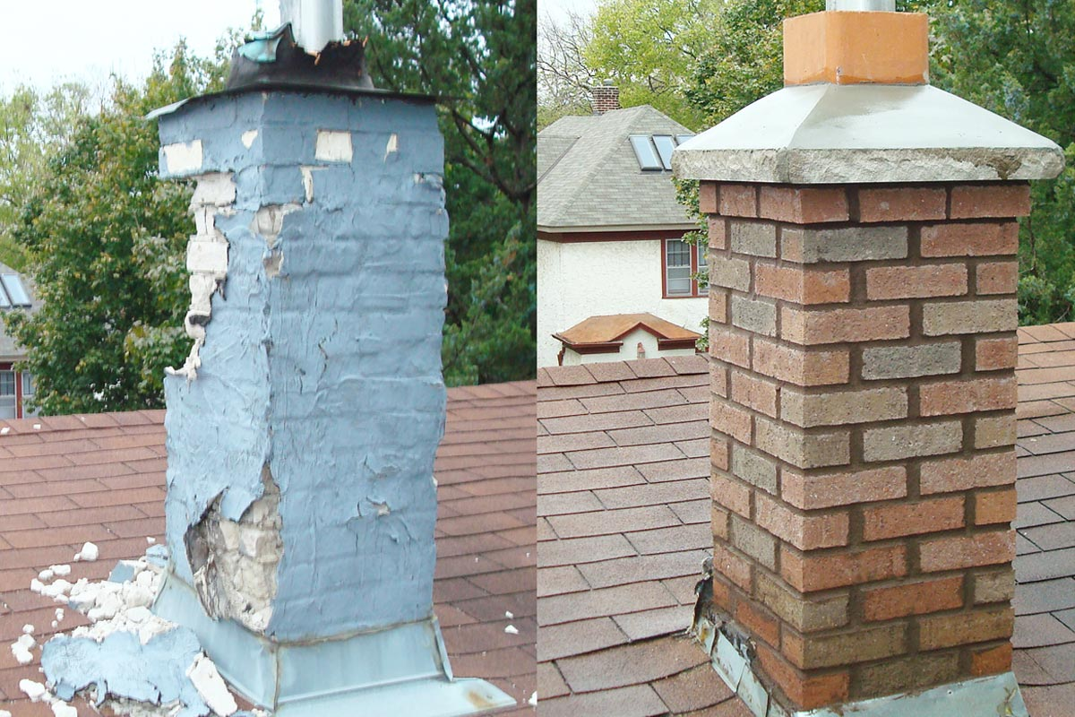 Before after on Georgia Chimney